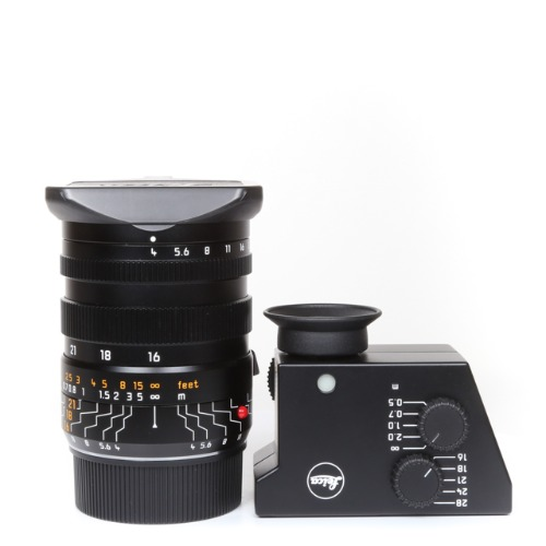 Leica M-16-18-21mm f/4 Tri-elmar ASPH 6bit Black + Finder set